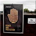 SO8318 : Ashmolean advert in Gloucester by Jaggery