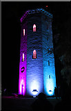 NJ0459 : Nelson Tower in Pink and Blue by Anne Burgess