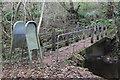 SO1602 : Footbridge, River Sirhowy, below Hollybush by M J Roscoe