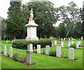 TG2109 : Earlham Road cemetery (war graves plot) by Evelyn Simak