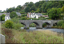 SJ1143 : Bridge over the River Dee near Carrog, Denbighshire by Roger  Kidd
