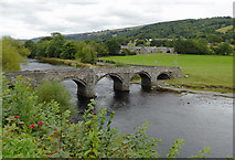 SJ1143 : The River Dee at Pont Carrog in Denbighshire by Roger  Kidd