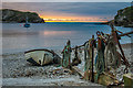 SY8279 : Lulworth Cove soon after sunrise by Ian Capper