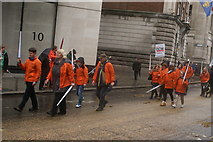 TQ3281 : View of people in the Lord Mayor's Parade from Gresham Street #10 by Robert Lamb