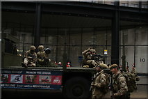 TQ3281 : View of the London Regiment float in the Lord Mayor's Parade from Gresham Street #2 by Robert Lamb