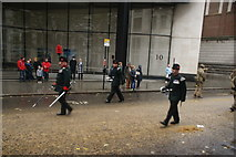 TQ3281 : View of soldiers in the Lord Mayor's Parade from Gresham Street #10 by Robert Lamb