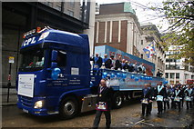 TQ3281 : View of the London Freemasons float in the Lord Mayor's Parade from Gresham Street by Robert Lamb