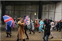 TQ3281 : View of people in the Lord Mayor's Parade from Gresham Street #13 by Robert Lamb