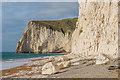 SY8080 : Chalk boulders below Swyre Head by Ian Capper