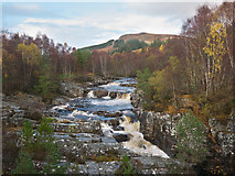 NH4063 : The Black Water north of Silver Bridge by Julian Paren