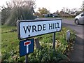 SU1992 : Highworth: Wrde Hill sign by Chris Downer