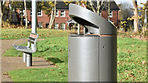J3673 : Connswater Greenway litter bin, Belfast (November 2016) by Albert Bridge