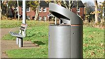 J3673 : Connswater Greenway litter bin, Belfast (November 2016) by Albert Bridge