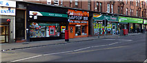 NS5566 : Shops on Dumbarton Road by Thomas Nugent