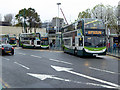 SJ8990 : Buses on Wellington Road South by David Dixon