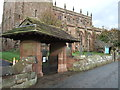 SJ6353 : Lych gate, St Mary's Church, Acton by JThomas