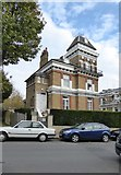 TQ3370 : Victorian villa with tower, Belvedere Road, SE19 by Stefan Czapski
