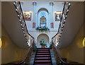 TL2113 : Interior Staircase of Brocket Hall, Hatfield, Hertfordshire by Christine Matthews