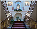 TL2113 : Interior Staircase of Brocket Hall, Hatfield, Hertfordshire by Christine Matthews