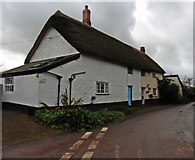 ST0215 : Thatched cottages at Whitnage by Roger Cornfoot