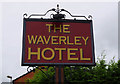 SJ7054 : The Waverley Hotel (2) - sign, 9 Pedley Street, Crewe, Cheshire by P L Chadwick