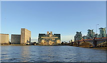 TQ3078 : The River Thames by Vauxhall Bridge by pam fray