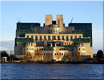 TQ3078 : The MI6 Building, Vauxhall by pam fray