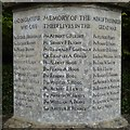 SO8406 : Names on Whiteshill war memorial by Philip Halling