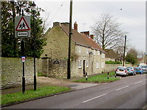 ST6976 : Warning sign - school, Westerleigh Road, Pucklechurch by Jaggery