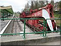 SZ0278 : Railway crane, Swanage Station by Philip Halling
