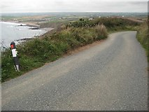 SS1800 : The coast road on Penhalt Cliff by Philip Halling