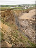 SS1903 : The eroding cliffs, Widecombe Bay by Philip Halling
