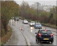 SX9066 : Minor flood on Brown's Bridge Road by Derek Harper