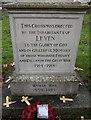 TA1045 : Leven War Memorial by Ian S