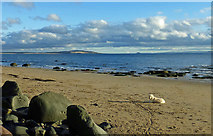 NO4102 : On Lower Largo Beach by Mary and Angus Hogg