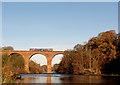 NY4654 : Train on Wetheral Viaduct - November 2016 by The Carlisle Kid