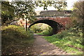 SJ2877 : The Wirral Way at Moorside Lane Road Bridge by Jeff Buck