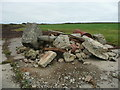 SM8004 : Pile of rubble at a bend in the path to the coast, Dale by Humphrey Bolton