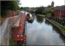 SO8690 : Repairs next to Marsh Lock No 19 by Mat Fascione