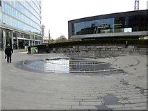 TQ2681 : Fountain in Merchant Square, Paddington by Oliver Dixon
