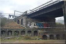 TQ3084 : Railway bridge by N Chadwick