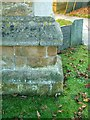 SK7018 : Bench mark?, All Saints Church, Asfordby by Alan Murray-Rust