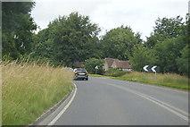 SU8314 : Sharp bend at Chilgrove by N Chadwick