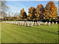 TL4859 : Second World War Graves at Cambridge City cemetery by Adrian S Pye