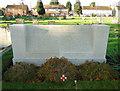 TF4610 : Screen Wall in Wisbech cemetery by Adrian S Pye