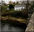 ST3894 : White house in Newbridge On Usk  by Jaggery