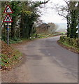 ST3998 : Warning signs, Llanllowell by Jaggery