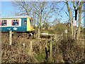 SK3344 : DMU W51073 at a footpath crossing and footpath junction by Ian Calderwood