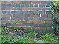 SK7323 : Bench mark, railway bridge near Holwell by Alan Murray-Rust