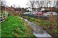 SO9669 : The Sugar Brook in Brook Retail Park, Sherwood Road, Bromsgrove, Worcs by P L Chadwick